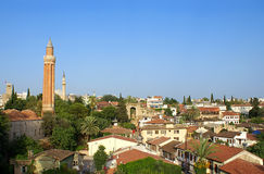 Vecchia vista della città di Antalya fotografia stock libera da diritti