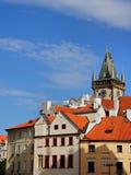 Vecchia vista della città di Praga Immagine Stock