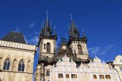 Vecchia vista della città di Praga Fotografia Stock Libera da Diritti