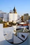 Vecchia vista della città di Siviglia dalla cima Fotografia Stock