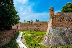 Vecchia vista della parete del castello di Belgrado Serbia Fotografie Stock Libere da Diritti