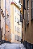 Vecchia vista della via di Tallinn Fotografia Stock