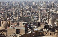 Vecchia vista di Cairo, Egitto Immagine Stock
