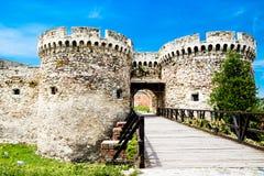 Vecchia vista di Enttrance del castello di Belgrado Serbia Fotografia Stock