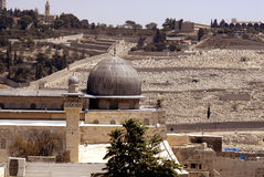 Vecchia vista di Gerusalemme Fotografia Stock