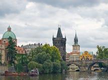 Vecchia vista di Praga Immagine Stock
