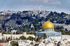 Vecchia vista di sity di Gerusalemme Immagine Stock Libera da Diritti