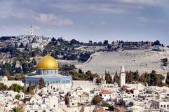 Vecchia vista di sity di Gerusalemme Fotografia Stock Libera da Diritti