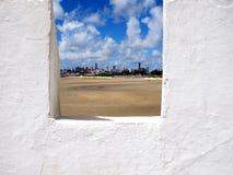 Vecchia VISTA FORTE, fortificazione di Natal City Marina militare, Brasile Fotografie Stock Libere da Diritti
