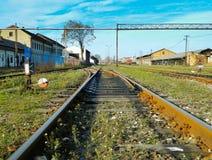 Vecchie affluenze sulla ferrovia immagini stock libere da diritti