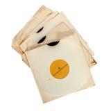 Vecchie annotazioni di vinile in copertine di carta Immagine Stock Libera da Diritti