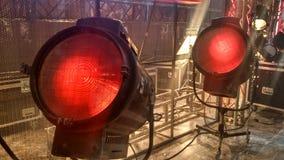 Vecchie apparecchi d'illuminazione di film Fotografia Stock