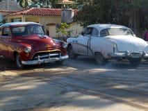 Vecchie automobili americane in Cuba Fotografia Stock Libera da Diritti
