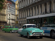 Vecchie automobili, Avana, Cuba Immagini Stock