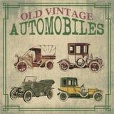 Vecchie automobili d'annata illustrazione vettoriale