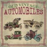 Vecchie automobili d'annata royalty illustrazione gratis