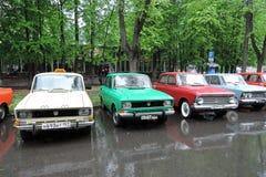Vecchie automobili russe Immagini Stock