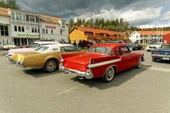 Vecchie automobili variopinte Immagine Stock