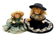 Vecchie bambole della porcellana Fotografie Stock Libere da Diritti