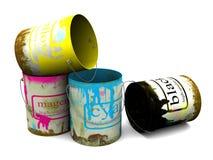 Vecchie banche di una vernice Immagine Stock Libera da Diritti
