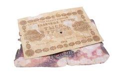 Vecchie banconote Immagini Stock