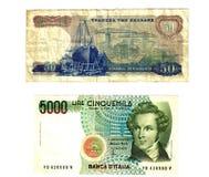 Vecchie banconote europee Fotografia Stock Libera da Diritti