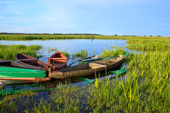Vecchie barche Immagine Stock Libera da Diritti