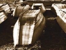 Vecchie barche Fotografia Stock