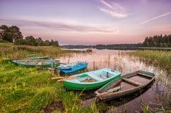 Vecchie barche Fotografia Stock Libera da Diritti