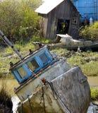 Vecchie barche abbandonate Fotografie Stock Libere da Diritti
