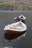 Vecchie barche di legno in Lofoten Immagini Stock Libere da Diritti