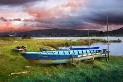 Vecchie barche di riga Fotografia Stock