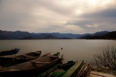 Vecchie barche, Montenegro Fotografia Stock