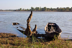 Vecchie barche sui laghi Fotografie Stock