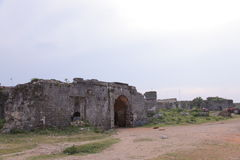 Vecchie Bastille di Jaffna - ripari dopo la guerra Fotografie Stock Libere da Diritti