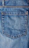 Vecchie blue jeans Fotografia Stock