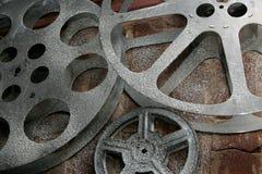 Vecchie bobine di pellicola Fotografia Stock