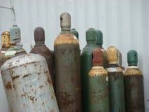 Vecchie bombole a gas in bottiglia immagine stock libera da diritti