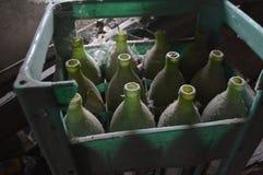Vecchie bottiglie Immagini Stock