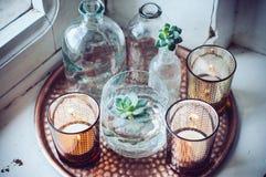 Vecchie bottiglie Immagine Stock