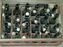 Vecchie bottiglie da birra Fotografia Stock Libera da Diritti