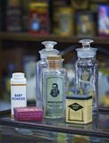 Vecchie bottiglie della medicina Fotografia Stock Libera da Diritti
