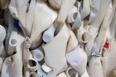 Vecchie bottiglie di plastica Fotografia Stock