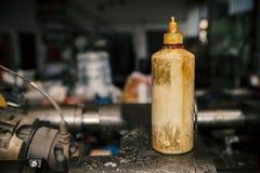 Vecchie bottiglie di plastica Fotografie Stock