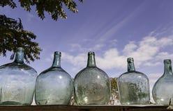 Vecchie bottiglie di vetro Immagine Stock