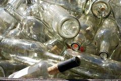 Vecchie bottiglie di vino Immagine Stock Libera da Diritti