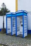 Vecchie cabine del telefono fotografia stock