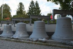Vecchie campane di chiesa da Seehausen Immagini Stock