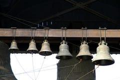 Vecchie campane storiche in una chiesa ortodossa Immagine Stock Libera da Diritti