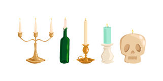 Vecchie candele d'annata Immagine Stock
